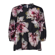 Nachhaltige Peplum-Bluse mit Blumenprint