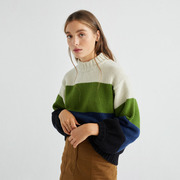 Nachhaltiger Stricksweater mit Blockstreifen