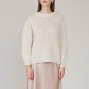 Mohair-Sweater von 'Vivian Graf' in Weiss und Rust