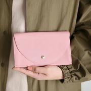 Artisanales Clutch-Portemonnaie in Schwarz oder Rosé