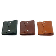 Artisanales Portemonnaie in Lederfarben