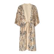 Glamouröses Kimono-Kleid mit Pailletten