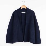 Wunderschöne Kaschmir-Jacke in klassischen Farben