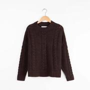 Edel & rustikal: Kaschmir-Pullover mit Zopfmuster