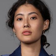 Drop Hoop Ohrring von 'Hana Kim'
