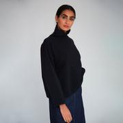 Nachhaltiges Sweatshirt in Schwarz