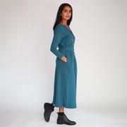Jerseykleid von 'Beaumont Organic' in Blaugrün