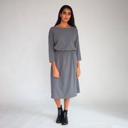 Fair-Fashion-Kleid 'Bellamy' in Graublau