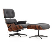 'Eames Lounge Chair' mit Ottoman in Palisander