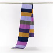 Gestreifter Schal aus Merinowolle in zwei Farben