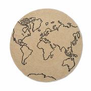 Fürs Kinderzimmer: runder Welt-Teppich