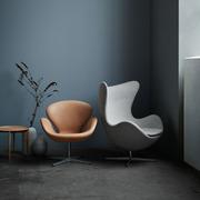 Loungesessel 'Swan' in Leder