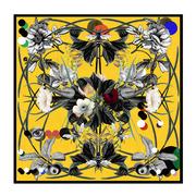 Seiden-Carré 'Flora' in Canary oder Rosa