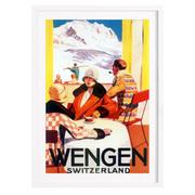 Vintage Bild 'Wengen'