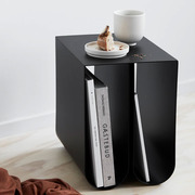 Side table 'Curved' with storage space