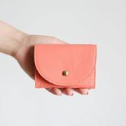 Kompaktes Leder-Portemonnaie in Farben