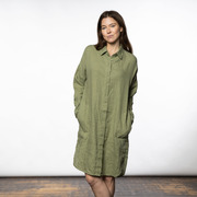 Oversize-Blusenkleid in Oil Green