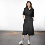 Lieblings-Blusenkleid aus Leinen in Schwarz