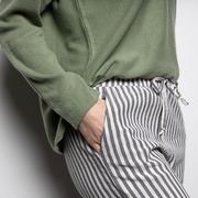 Entspannte Baumwoll-Hose mit Streifen