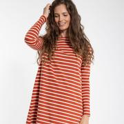 'Danefae'-Shirtdress mit Streifen in zwei Farben