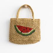 Natürlicher Mini-Shopper mit Wassermelone