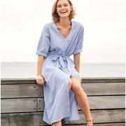 Einzelstücke: Streifenkleid aus Baumwolle