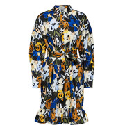 Baumwoll-Kleid mit kunstvollem Print