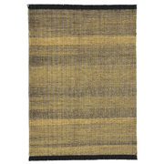 Handgewobener Teppich 'Tres Texture Gold'