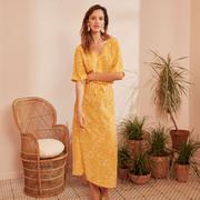 Sonnengelbes Midi-Kleid von 'Des Petits Hauts'