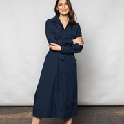Luftiges Baumwollkleid in Navy