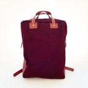 Perfekter Rucksack von 'Bolso Paseo' in Weinrot/Ziegelrot