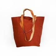 'Bolso Paseo'-Shopper in Rotorange / Sanftbraun