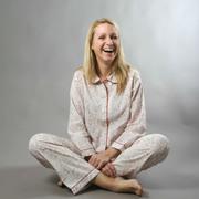 Leichtes Baumwoll-Pyjama mit Blockprint