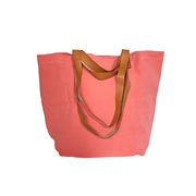 'Bolso Paseo'-Shopper in Coral / Sanftbraun