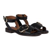 Einzelpaare: Schnallen-Sandalen in Schwarz oder Braun