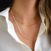 Raffinierte Gliederkette in Silber oder Goldplattiniert