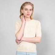 Strukturiertes Strick-Shirt von 'Franziska Lüthy' in Natural
