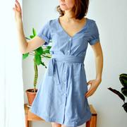 Himmelblaues Blusenkleid von 'Jyoti'
