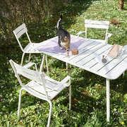 Tisch 'Luxembourg' in Perlweiss