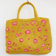 Natürlicher Leo-Shopper in Yellow/Pink