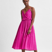 Statement-Kleid aus Biobaumwolle in Magenta