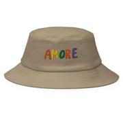 'Amore'-Bucket-Hat in Khaki oder Weiss