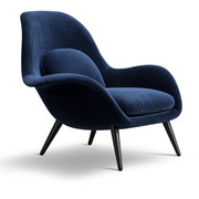 Swoon Lounge Chair in Stoff