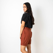 Baumwoll-Shorts von 'Jyoti' in Mahagoni