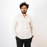 Fair-Fashion für ihn: Natürliches Herrenhemd in Creme