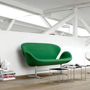 2-Sitzer Sofa 'Swan' in Stoff