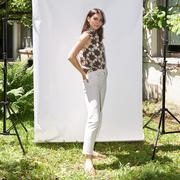 Einzelstück: Bluse von 'Komana' im Star Tile Print