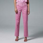 Highwaist-Denim 'Cassie' in Flamingo