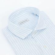 Gestreiftes Leinenhemd von 'Carpasus' in Hellblau