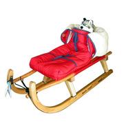 Davoser Schlitten mit Kindersitz
